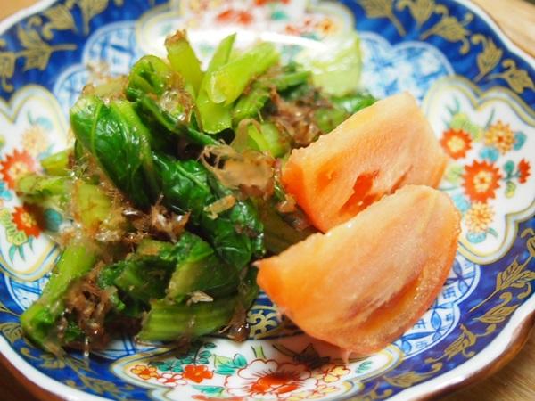 小松菜のおひたし トマト