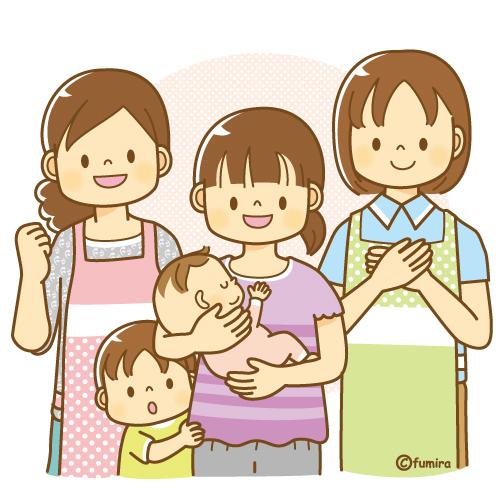 子供と動物のイラスト屋さん 産後のケア・子育てボランティアのイメージイラスト